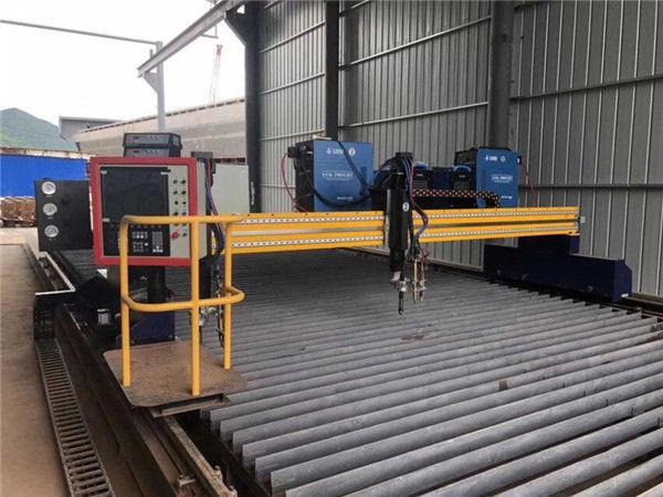 Outomatiese CNC plasma snymasjien dubbel ry 4 m span 15 m relings