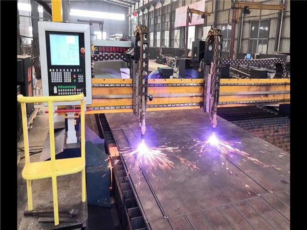 Double Drive Gantry CNC Plasma snymasjien H Straal Produksielyn Hypertherm CNC Stelsel