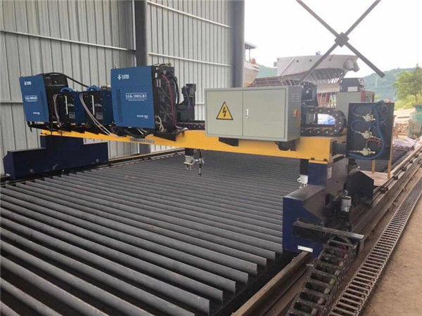 Double Drive Gantry CNC Plasma snymasjien vir die sny van soliede staal H Straalproduksielyn